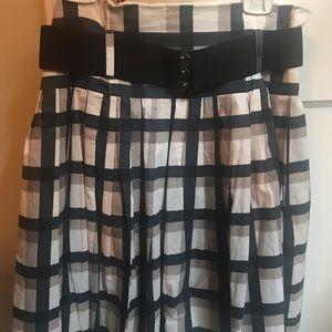 Forever 21 plaid skirt with black belt
